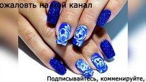 Beautiful and simple nail design. TOP amazing nail designs Flowers-Kse-xnhBg5o
