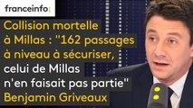 """Benjamin Griveaux : """"162 passages à niveau à sécuriser, celui de Millas n'en faisait pas partie"""""""