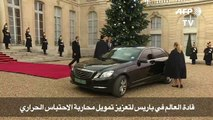 قادة العالم في باريس لتعزيز تمويل محاربة الاحتباس الحراري