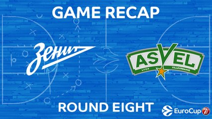 7DAYS EuroCup Highlights Regular Season, Round 8: Zenit 89-92 ASVEL