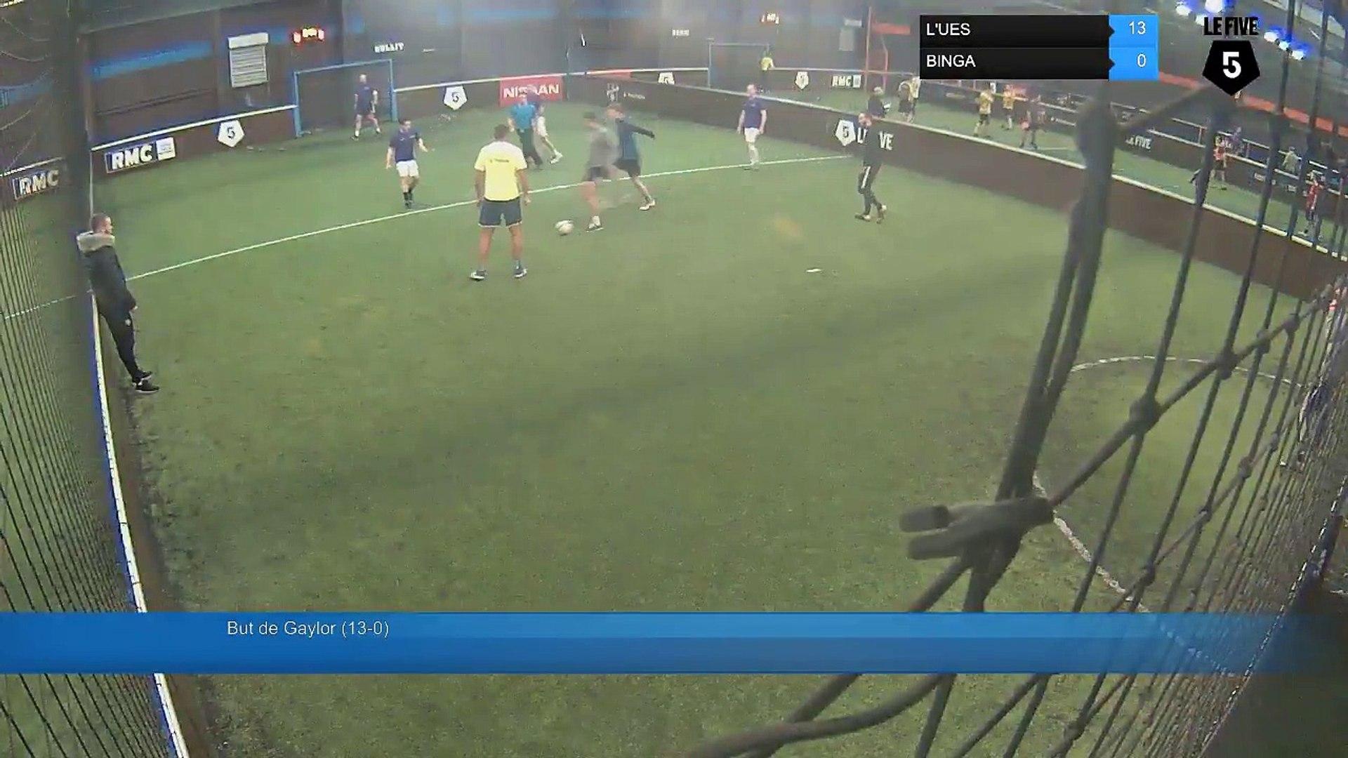 But de Gaylor (13-0) - L'UES Vs BINGA - 12/12/17 19:00 - Paris (La Chapelle) (LeFive) Soccer Pa