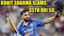 India vs SL 2nd ODI : Indian skipper Rohit Sharma hits 35th 50 in one days | Oneindia News
