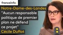 """#NDDL """"Aucun responsable politique de premier plan ne défend ce projet"""" explique Cécile Duflot, qui affirme que François Hollande pensait que ce projet d'aéroport n'était """"pas une bonne idée"""""""