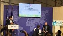 Conférence de presse de Nicolas Hulot et Stéphane Travert depuis le pavillon français de la COP 23