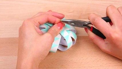DIY : Boules de Noël en origami