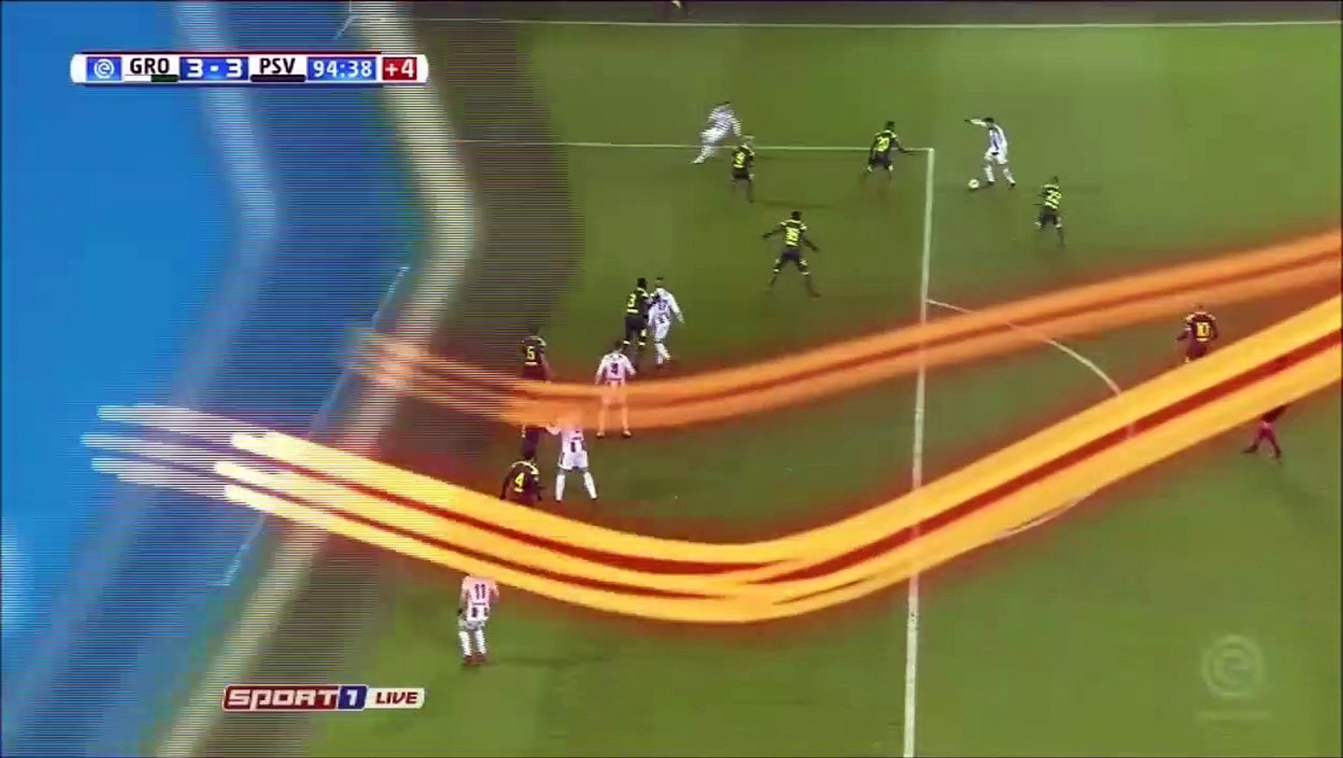 3-3 Mike te Wierik Goal Holland  Eredivisie - 13.12.2017 FC Groningen 3-3 PSV Eindhoven