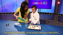 Anson Wong, boy genius, explains magic milk experiment | Anson's Answers