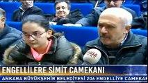 Ankara Belediyesi 206 engelli vatandaşa seyyar simit camekanı tahsis etti