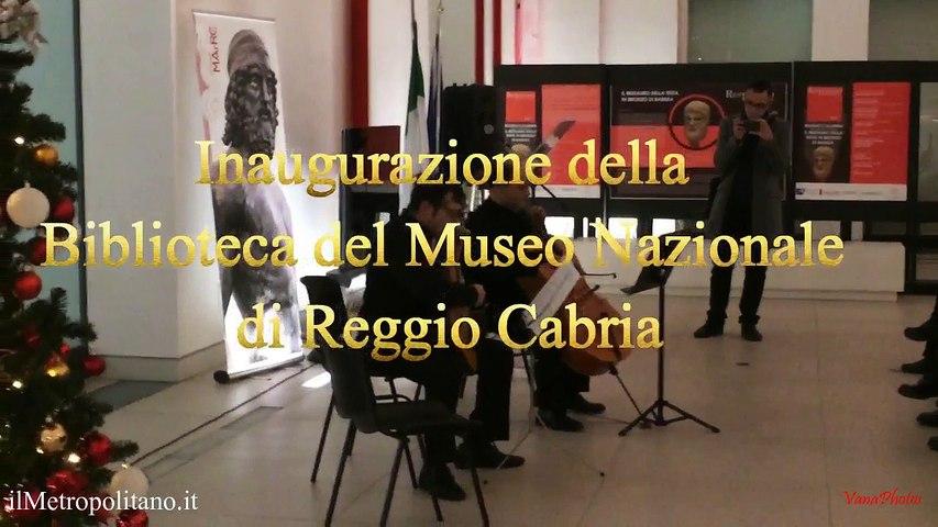 Biblioteca Reggio Calabria, inaugurata la biblioteca del Museo Archeologico Nazionale