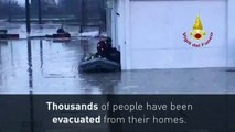 Thousands evacuated as severe floods ravage Northern Italy