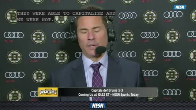 Bruins Overtime Live: Coach Bruce Cassidy Says Braden Holtby Had Bruins' Number