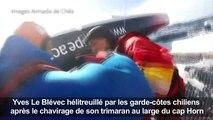 Voile: Le Blévec hélitreuillé après le chavirage de son bateau