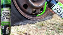 Roadside Flat Tire Fix On The Spot - Quick Spair Inflator Sealer - dailymotion