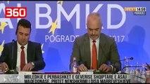 Takimi i qeverive Shqipëri-Maqedoni për herë të parë, flet Rama (360video)