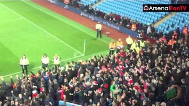 "Arsenal Fans Singing ""We Are Top Of The League"" 