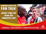 About Time We Won The Emirates Cup!   Arsenal 1 Wolfsburg 0   Emirates Cup.