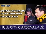 Arsenal Can Win The FA Cup Three Times says Hull Fans   Hull 0 Arsenal 4