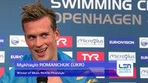 European Short Course Swimming Championships Copenhagen 2017 - Mykhaylo ROMANCHUK Winner of Mens 1500m Freestyle