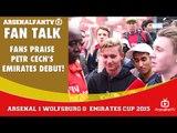 Fans Praise Petr Cech's Emirates Debut!   Arsenal 1 Wolfsburg 0   Emirates Cup.