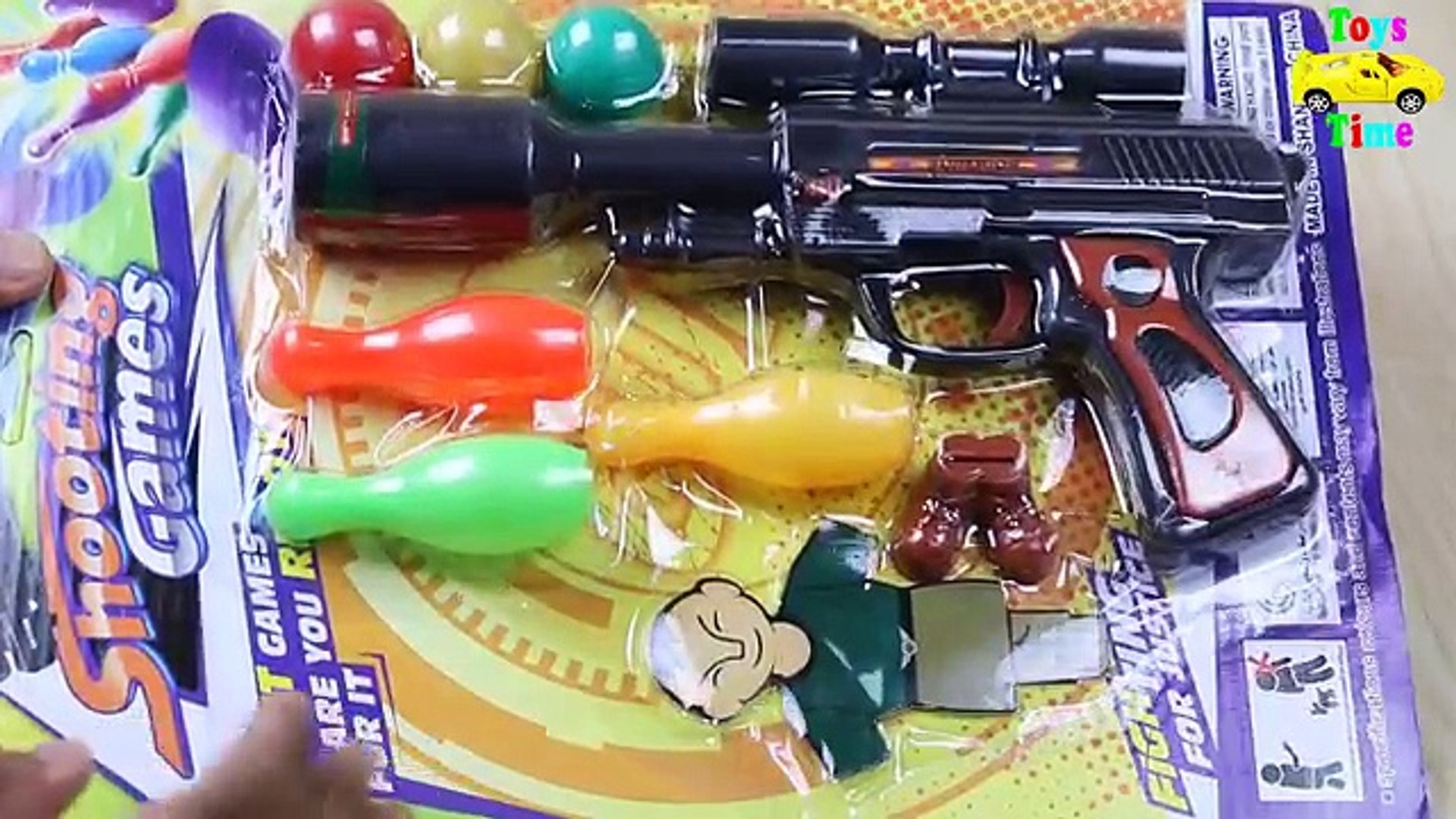 Powerful Toy Gun for Kids Ball Bullet Gun Shooting Games Unboxing Toy Pistol with Target and Bullets