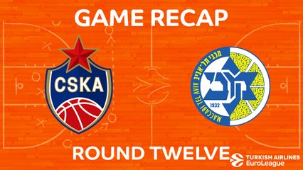 EuroLeague 2017-18 Highlights Regular Season Round 12 video: CSKA 101-86 Maccabi