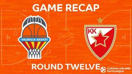 EuroLeague 2017-18 Highlights Regular Season Round 12 video: Valencia 82-86 Zvezda
