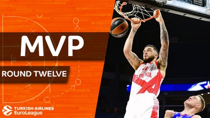 Round 12 MVP: Vincent Poirier, Baskonia Vitoria Gasteiz