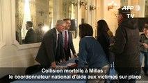 Accident à Millas: le coordonnateur national à Perpignan