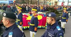 Thousands Line Bucharest Streets for Funeral of Former Romanian King