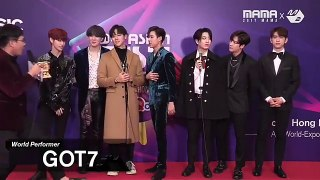 """ 2017MAMA x M2 GOT7 at 땡큐스테이지 Thank You Stage prdsdef mark tuan jacksonwang852g7…"""