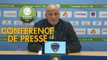Conférence de presse Clermont Foot - FC Sochaux-Montbéliard (0-2) : Pascal GASTIEN (CF63) - Peter ZEIDLER (FCSM) - 2017/2018