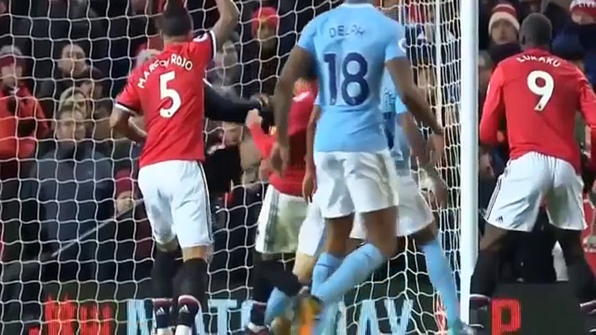 Manchester United 1 vs Manchester City 2 Extended Match Highlights 10 December 2017