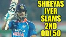 India vs SL 3rd ODI : Shreyas Iyer slams 2nd ODI 50, hits back to back half ton | Oneindia News