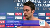 European Short Course Swimming Championships Copenhagen 2017 - Luca DOTTO Winner of Mens 100m Freestyle