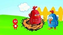 Galinha Pintadinha e pintinhos coloridos se assuntam com Lobisomem!-ZjyO22GJoDM