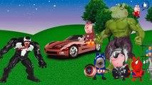 Peppa Pig vingadores Spider man Capitão America Hulk Thor homem de ferro VC Venom-8vMRlvsTdM8