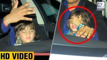 ShahRukh's Son AbRam Gets IRRITATED By Media