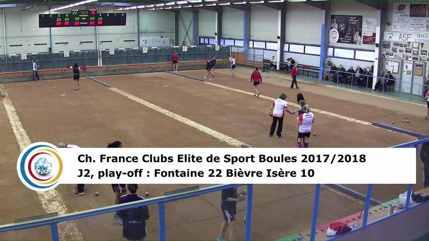 Quatrième tour, Club Elite Féminin, J2 play-off, Fontaine contre Bièvre Isère, décembre 2017
