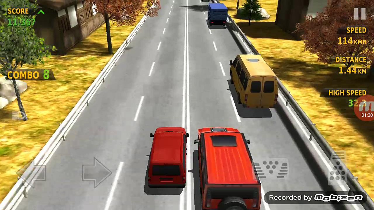 Traffic Racer-Red Minibus High Speed Gameplay