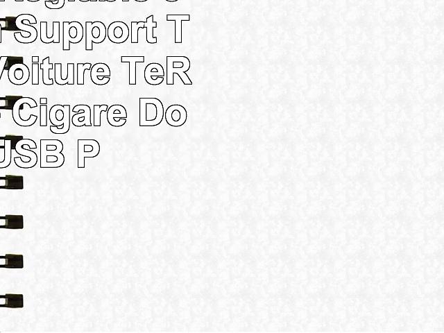 Universel Réglable 360Rotation Support Téléphone Voiture TeRich Allume Cigare Double USB