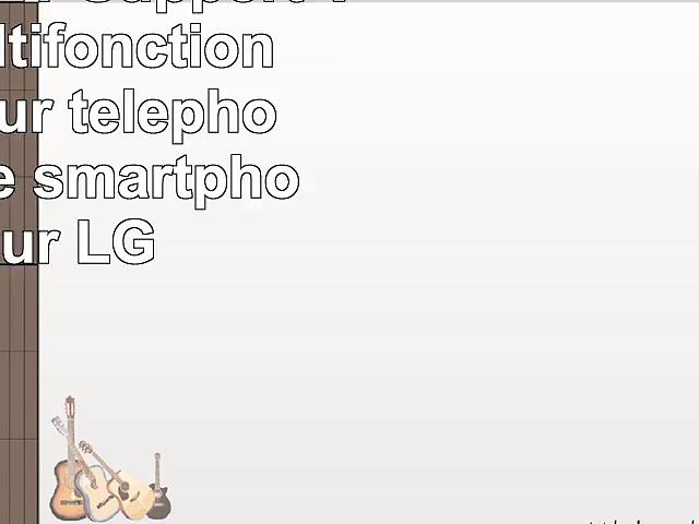 DURAGADGET Support Voiture multifonction 3 en 1 pour téléphone portable  smartphone pour