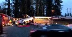 Amtrak Passenger Train Derails Near Tacoma, Washington