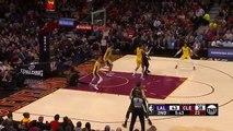 Lonzo Ball RUNS AWAY FROM LEBRON JAMES DUNK - LeBron James vs Lonzo Ball - Cavaliers vs Lakers