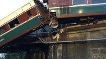"""Imágenes del accidente de tren en EEUU con """"víctimas mortales"""" (V)"""