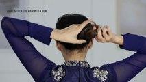 2 Minute Easy Roll & Tuck Bun - Festive Hairdos for Long hair-3Zg1Ewep9ns