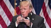 Trump boit bizarrement son verre d'eau, ses détracteurs ne l'ont pas loupé