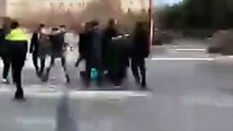 Detenidos seis agresores por esta paliza a un compañero de colegio .- Imágenes que pueden herir su sensibilidad