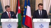 Déclaration conjointe du Président de la République Emmanuel Macron avec le Roi de Jordanie Abdallah II