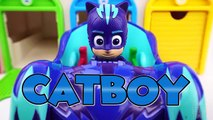 PJ Masks Toys Surprise Vehicles in Garage Playset & Blind Bags | Learn Colors with Cars for Toddler