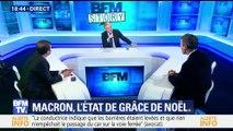 La cote de popularité d'Emmanuel Macron remonte